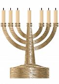 pic of menorah  - Menorah - JPG