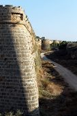 Corner Of City Wall In Famagusta