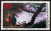 Postage Stamp Germany 1974 Painting By Caspar David Friedrich
