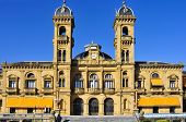 SAN SEBASTIAN, SPAIN - NOVEMBER 15: City Council on November 15, 2012 in San Sebastian, Spain. Its premises are located in the former casino of the city, built up in 1887, next to the Bay of La Concha