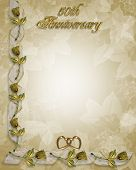 50Th Wedding Anniversary Golden Roses Template