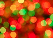 picture of christmas lights  - Christmas lights background. Defocused image of 