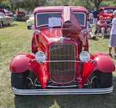 Red 1930 Ford Coupe Front View
