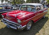 Red 1957 Chevy Bel Air
