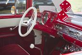 Red 1957 Chevy Bel Air Interior View