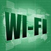 Wi Fi Word On Digital Screen