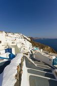 View of Santorini village of Oia