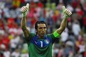 GDANSK,POLAND-JUNE 10,2012:Gianluigi Buffon during the game between Italy and Spain in Gdansk Arena