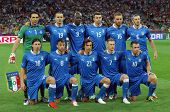 KYIV, UKRAINE - JUNE 24, 2012: Italy national football team pose for a group photo before UEFA EURO