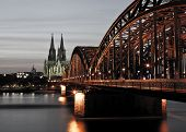 Cologne at cold night