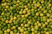 Green Limes At Fruit Market