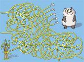 Funny Panda Maze Game