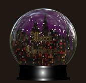 Cityscape Snow Globe