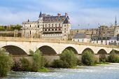 Amboise castle and old bridge, France