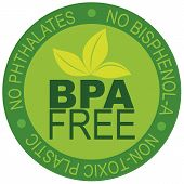BPA gratis Label illustratie