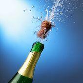 Постер, плакат: Новый год шампанское