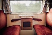 Inside of an old Train