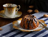Mini Pound Cake - Hazelnut Cake With Chocolate Drizzle