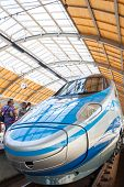 portrait orientation of pendolino train first time shown to public in wroclaw poland