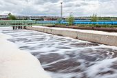 Volumes For Oxygen Aeration In Wastewater Treatment Plant. Long Exposure