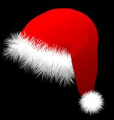 stock photo of christmas hat  - christmas hat on black background - JPG