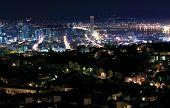 Skyline von San Francisco bei Nacht