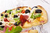 Delicious Pizza Detail.