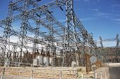 stock photo of substation  - Electric Infrastructure  - JPG