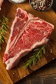 Thick Raw T-bone Steak