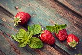 stock photo of mint leaf  - Fruit food concept - JPG
