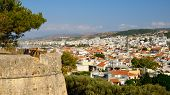 View On City Of Rethymno From Fortress Fortezza, Crete, Greece