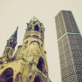 Retro Look Bombed Church, Berlin