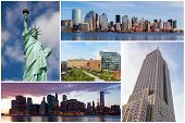 New York City Famous Landmarks Picture Collage - Usa poster
