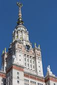 MOSCOW - JUNE 21. The Main Building of the Moscow State University on June 21, 2012