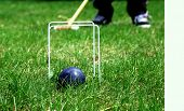 Croquet Ball And Hoops