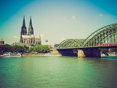 Retro Look Koeln Panorama