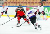 foto of skate  - Ice Hockey Game  - JPG