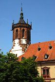 Gothic church tower