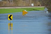 stock photo of flood  - Flooded City Street - JPG