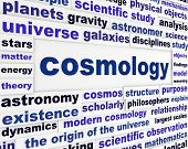 Cosmology scientific message concept