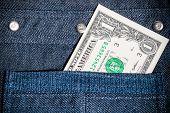 One American Dollar In Pocket
