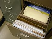 Opened File Cabinet