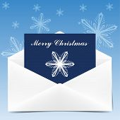 Envelope With Greeting Card For Christmas