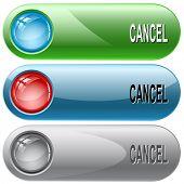 Cancel. Internet buttons. Raster illustration. Vector version is in my portfolio.