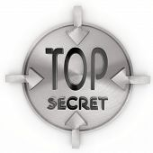Illustration Of A Cool Top Secret Symbol On Metallic Label