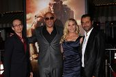LOS ANGELES - AUG 28:  David Twohy, Vin Diesel, Katee Sackhoff, Jordi Molla at the