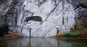 Lion Monument (l�wendenkmal) In Park (Luzern, Switzerland),
