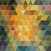 stock photo of psychedelic  - Triangles Pattern - JPG