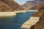 stock photo of u-boat  - Formed by the Hoover Dam Lake Mead in Nevada U - JPG