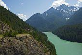 Diablo Lake Cascades Mountains